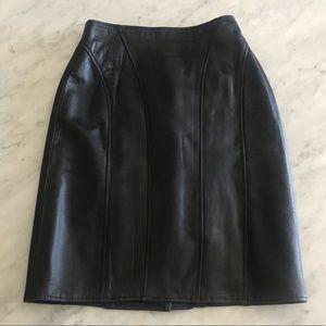 Black Leather pencil skirt size 10